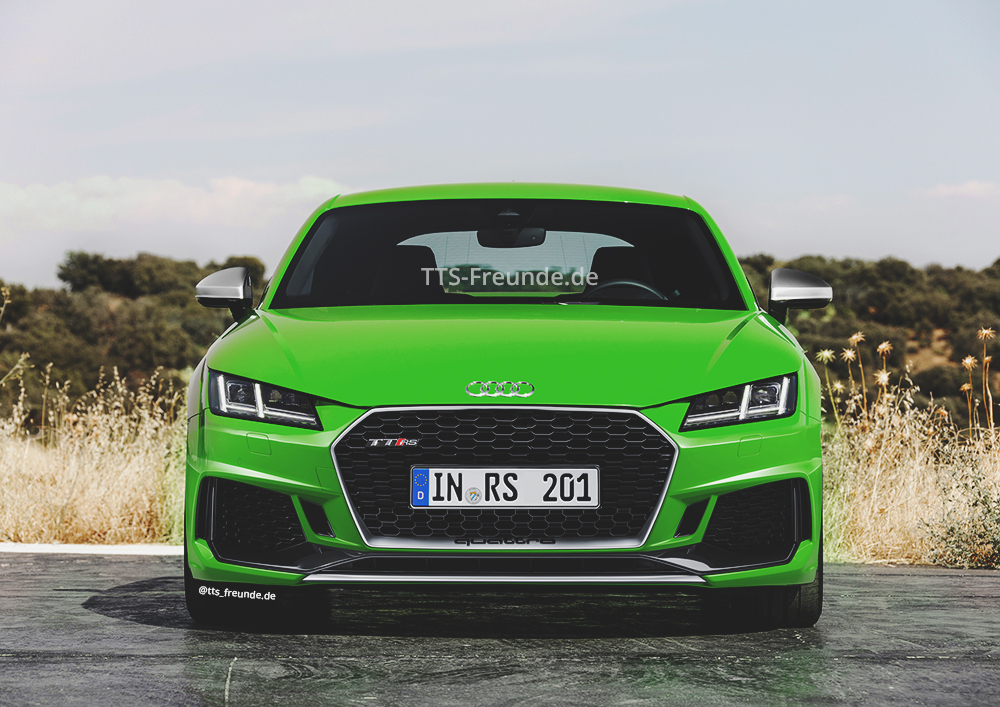 2018 audi tt rs facelift der scharfe sportler bekommt eine neue front. Black Bedroom Furniture Sets. Home Design Ideas