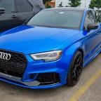 Audi RS3 in Arablau