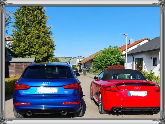 Audi TTs + RSQ3 von hinten